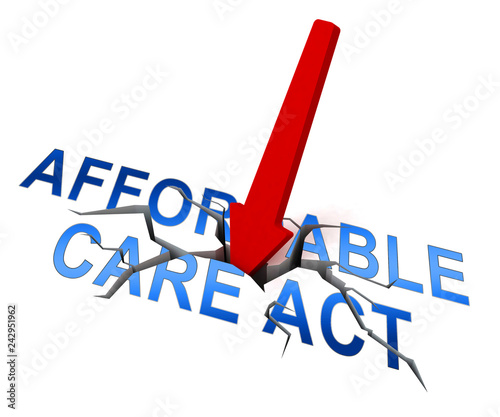 Fotografija  Repeal Aca Affordable Care Act Healthcare - 3d Illustration