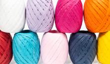 Balls Of Colored Raffia
