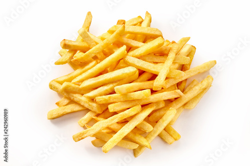 Fotografia Pile of french fries from above