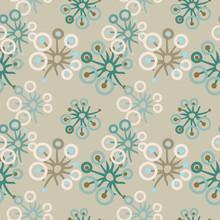 Dandelion Seamless Pattern.