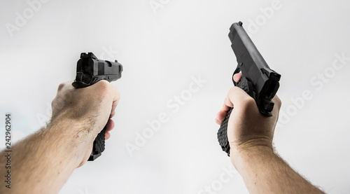 first person shooter pistol фототапет