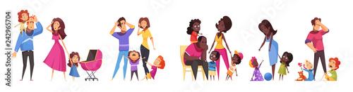 Obraz Family Relations Routine Set - fototapety do salonu