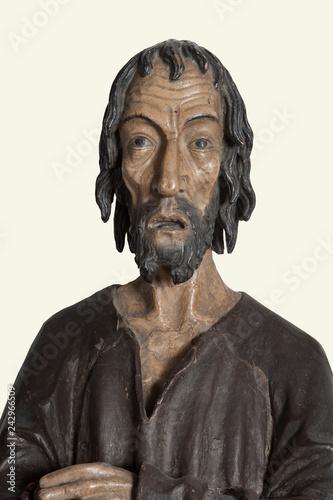 Keuken foto achterwand Historisch mon. Älteste Statue des Niklaus von Flüe, Rathaus, Stans, Nidwalden, Schweiz