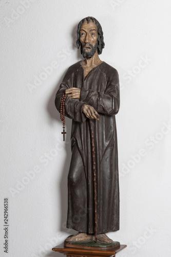 Foto op Canvas Historisch mon. Älteste Statue des Niklaus von Flüe, Rathaus, Stans, Nidwalden, Schweiz