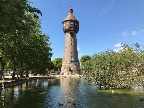 Fototapeta Wasserturm in Heide in Holstein (Schleswig-Holstein)