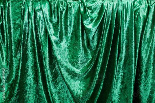 Photo  Green velvet farbic