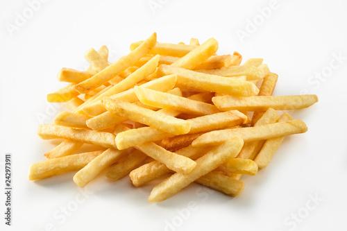 Fototapeta Portion of straight cut fried potato chips obraz