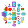 Argy bargy icons set. Cartoon set of 25 argy bargy vector icons for web isolated on white background