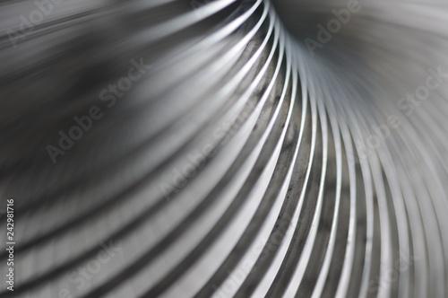 Fotobehang Spiraal Metall Spirale, Schärfentiefe