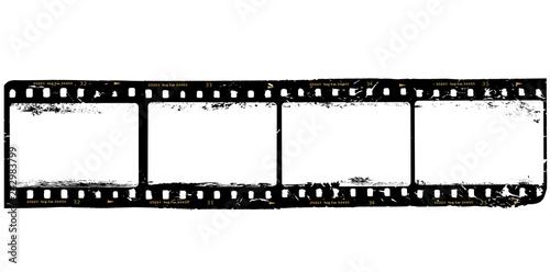 Fototapeta frames of film, grungy photo frames,with free copy space,vector obraz na płótnie