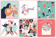 International Women S Day. Vector Templates For Card, Poster, Flyer And Other Users.