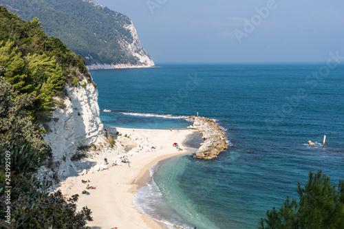Photo Urbani Beach at Numana Sirolo Ancona Mount Conero Marche region Italy - beautifu