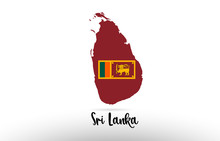 Sri Lanka Country Flag Inside ...
