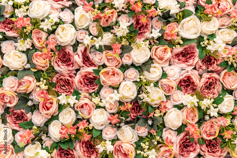 Fototapety, obrazy: beautiful bouquet flower with copy space for background