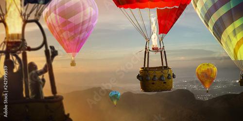 Obraz Balony  empty-basket-hot-air-balloon-beautiful-background