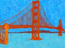 Art Abstrait. Le Pont Du Golde...