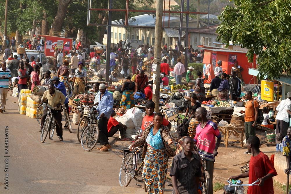Fototapeta Straßenverkehr in Malawi
