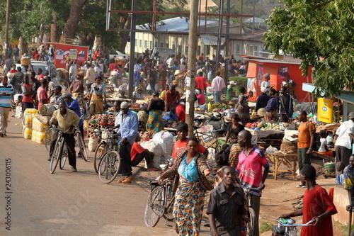 Türaufkleber Afrika Straßenverkehr in Malawi