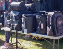 Bikers Black Leather Luggage Saddlebags