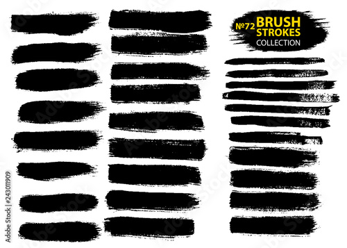 Dirty artistic design elements isolated on white background Canvas Print