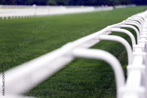 Foto op Aluminium Paardrijden Empty racing track racecourse without horses and riders