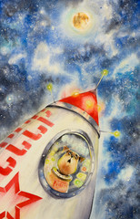 Laika - first dog astronaut...