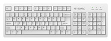 Vector White Pc Keyboard, Keyboard Is Very Useful Tool For Personal Computer, It Is Necessary To Write Words