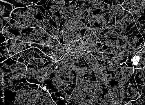 Photo  map of the city of Manchester, England, Great Britain