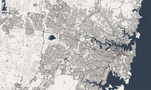Map Of The City Of Sydney, New South Wales, Australia