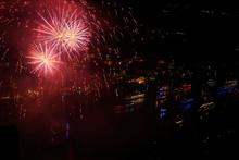 Feuerwerk über Dem Befahrenen Rhein (Rhein In Flammen)