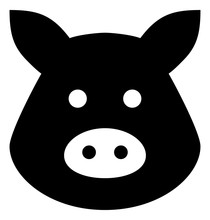 Pig Head Vector Icon
