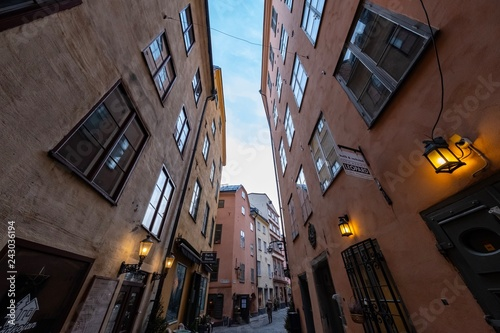 Fotografie, Obraz  historische Altstadt von Gamla Stan in Stockholm, Schweden
