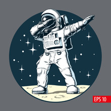 Astronaut Dabbing On The Moon,...