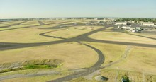 Aerial View At Sunrise Private Aircraft Melbourne Airport