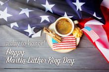 Homemade Cookies In The Shape Of The American Flag - Martin Luther King Day Background