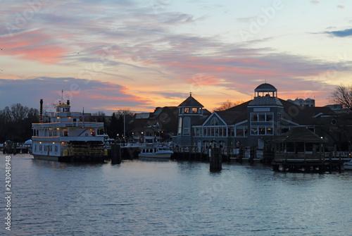 Deurstickers Amerikaanse Plekken Boats and waterfront of Alexandria, Virginia