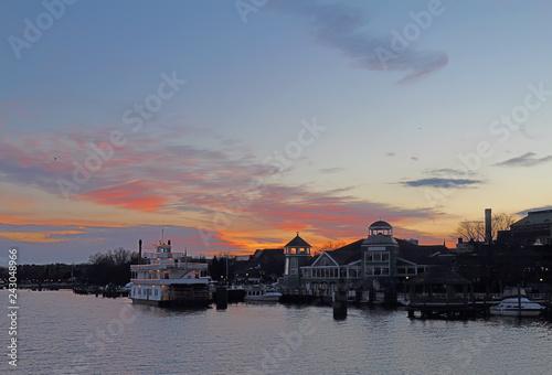 Valokuvatapetti Boats and waterfront of Alexandria, Virginia