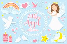 Little Angel Girl Character Se...