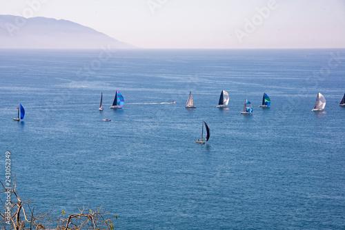 Fotografie, Obraz  Regatta in the Bay of Banderas