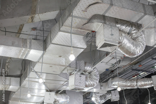 Obraz Pipes of air conditioning - fototapety do salonu