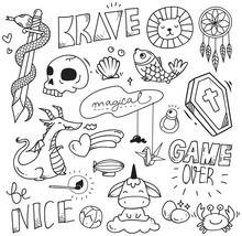 Set Of Cute Doodle