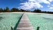 Island with jetty on luxury beach resort Bahamas