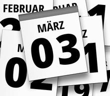 Abreißkalender Blatt Vom 03. ...
