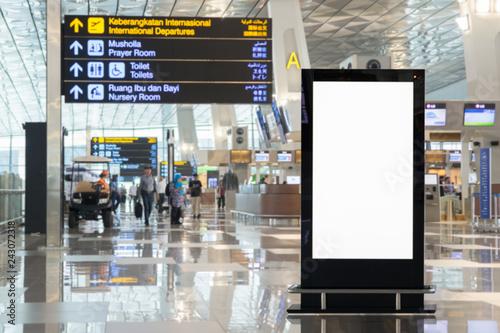 beauty full blank advertising billboard at airport