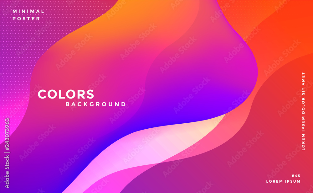 Fototapety, obrazy: abstract vibrant fluid colors background