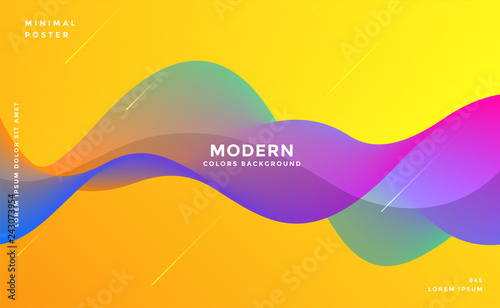Garden Poster Abstract wave dynamic colorful vibrant wave colorful background
