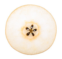 Snow Pear Or Fengsui Pear Isolated Clipping Path