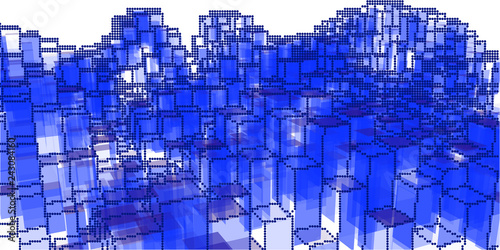Fotobehang Donkerblauw Abstract background cityscape on white. Vector illustration.