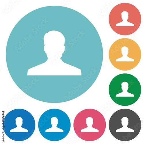 Fotografía  Anonymous avatar flat round icons