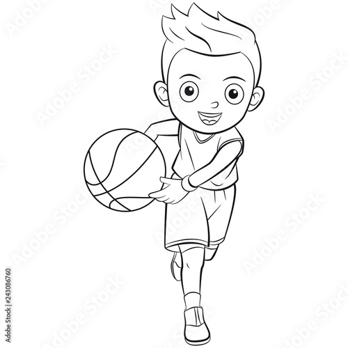 Basketball Outline – Basketball ball hand drawn outline doodle icon.